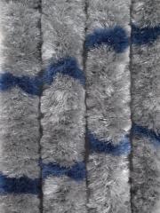 Függöny (macskafarok) szürke / kék