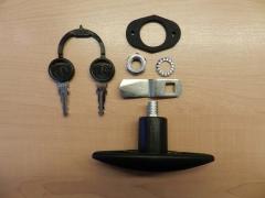 Nagy ovális zárbetét, kulcsokkal