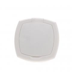 Zár, négyzet alakú, fehér fedővel